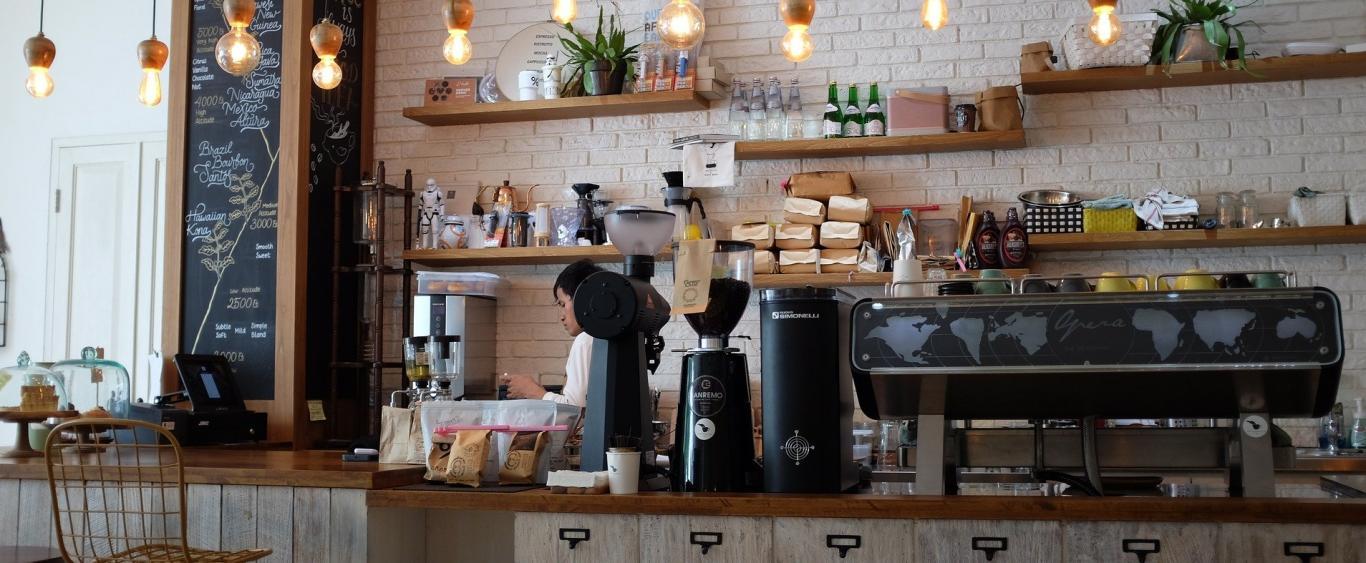 Cafetería mostrador