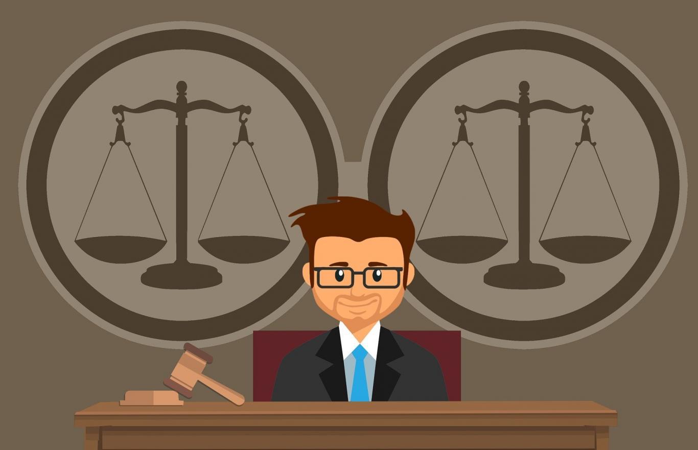 Juez en un juzgado