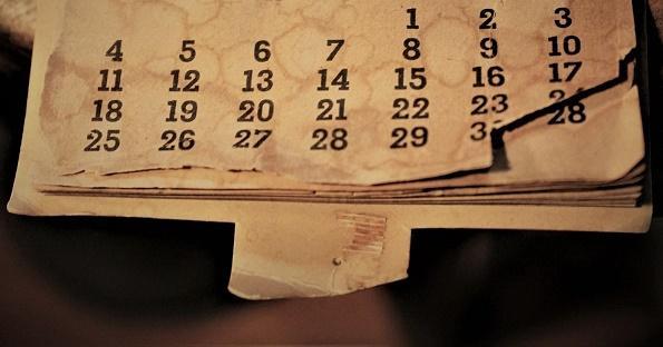 Imagen de un calendario antiguo