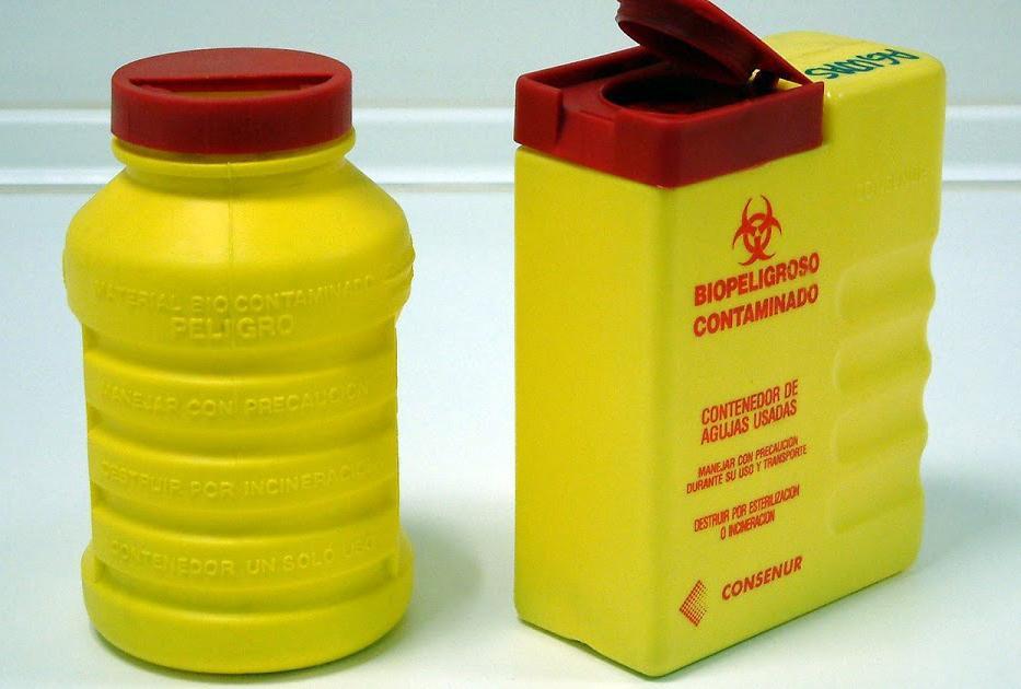 Contenedor residuos sanitarios peligrosos