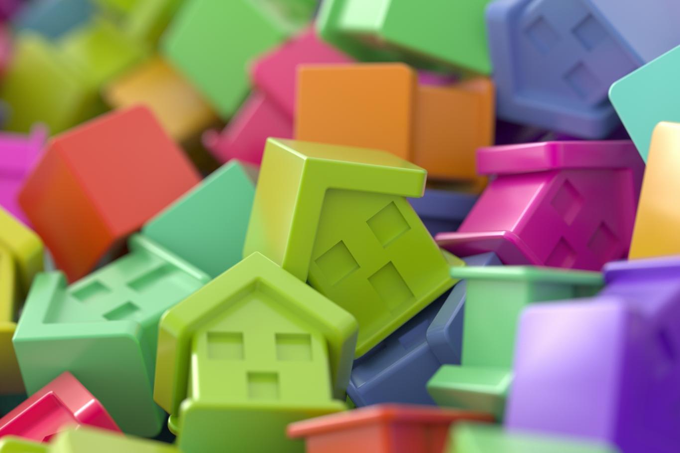 Imagen de casas de colores