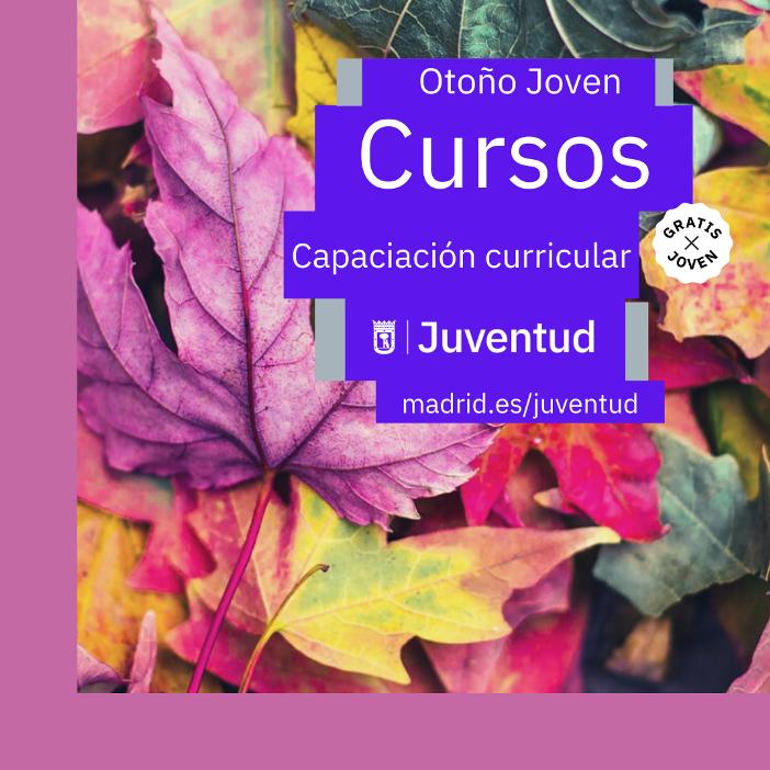 Cartel de cursos de otoño del Ayuntamiento de Madrid