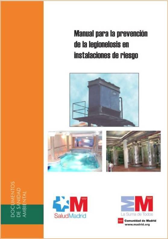 Imagen de la portada del Manual para la prevención de la legionelosis en instalaciones de riesgo