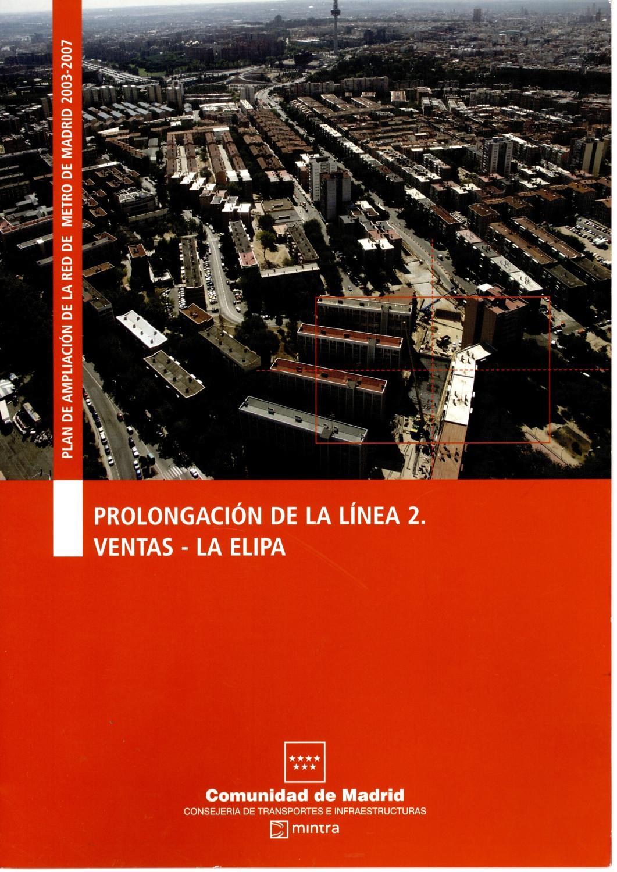 Carátula folleto ampliación Línea 2 a Las Rosas