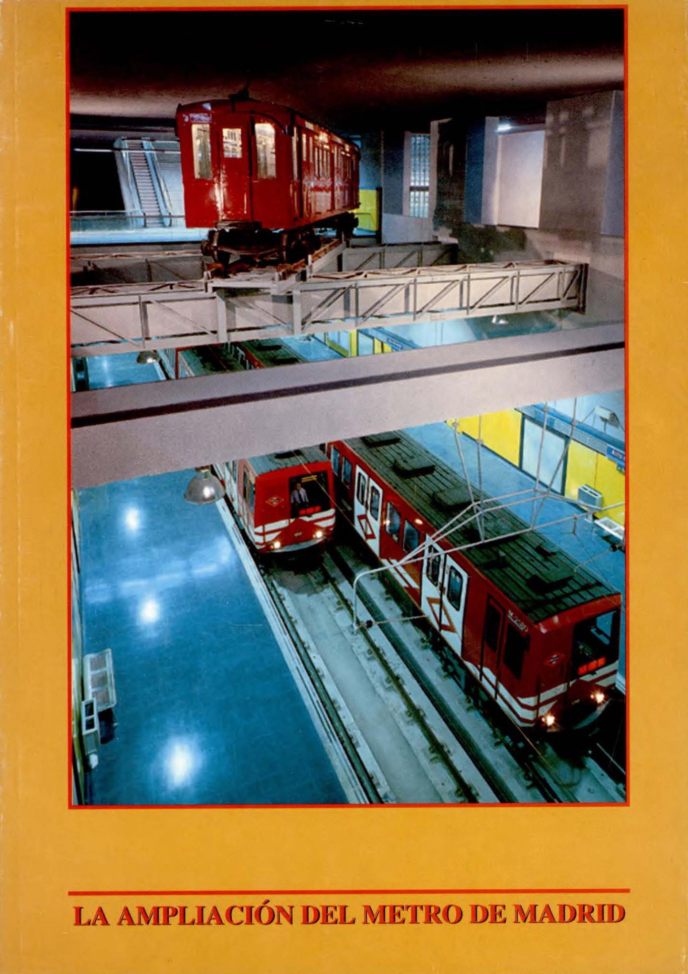 Portada del libro la ampliación del metro de Madrid