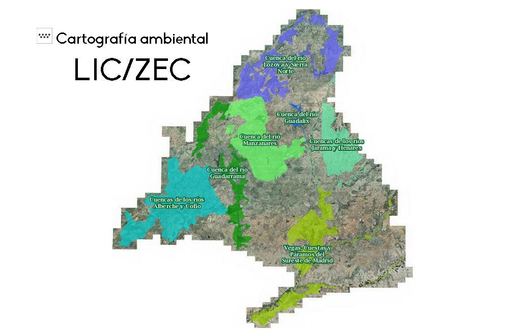 Mapa Lugares Interés Comunitario