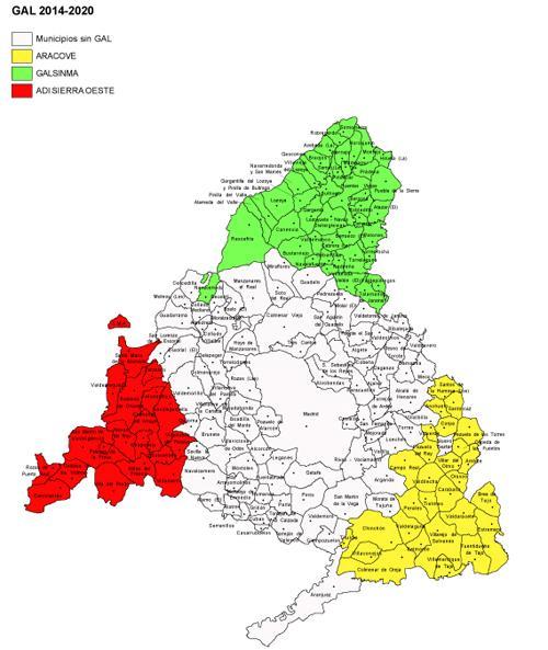Mapa del territorio LEADER 2014-2020