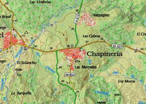 Mapa del Centro de educación ambiental El Águila