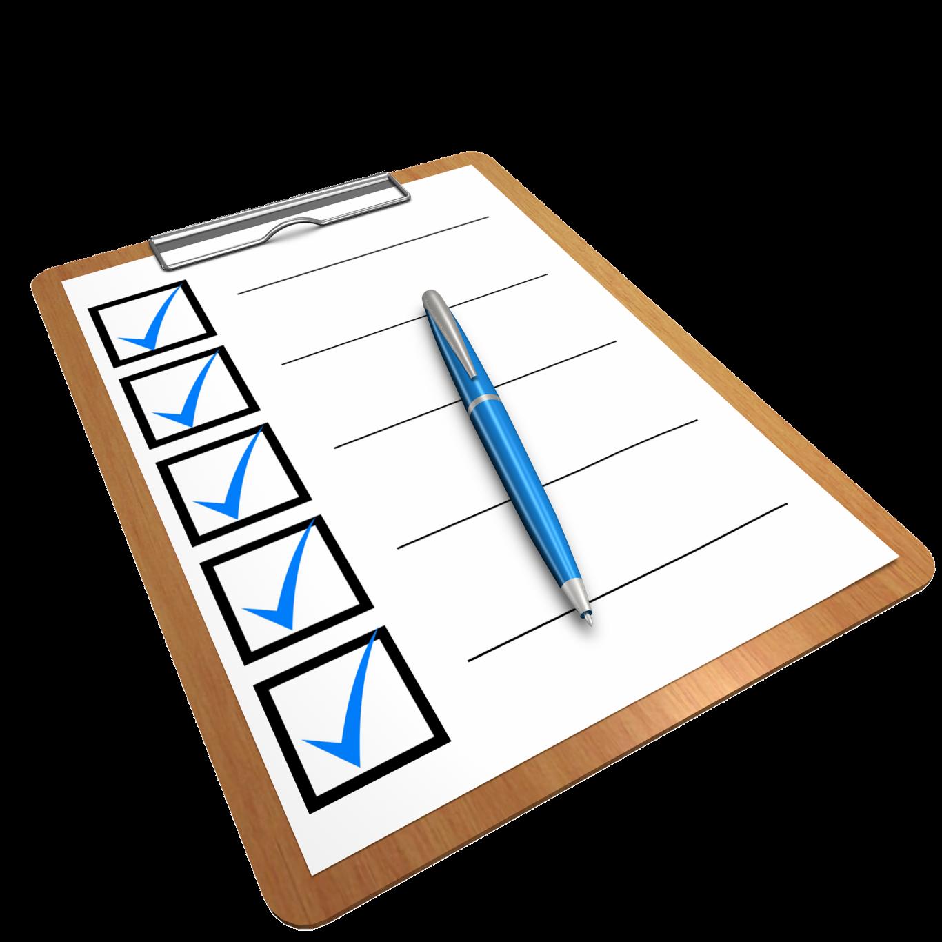 Listado Check azul