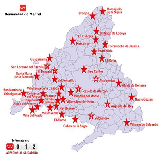 Mapa Oficinas Atención al Ciudadano