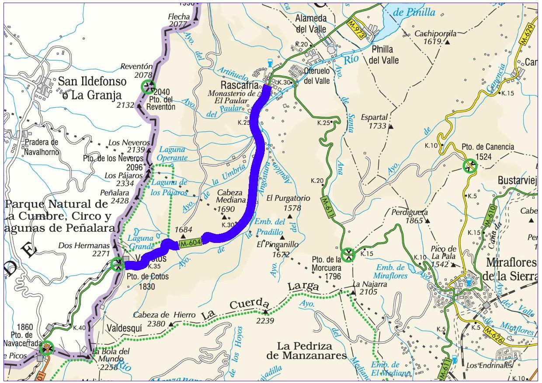 Mapa de situación de la actuación en la carretera M-604