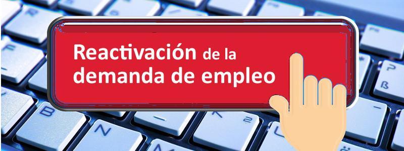 Pulsa el botón para reactivar tu demanda de empleo