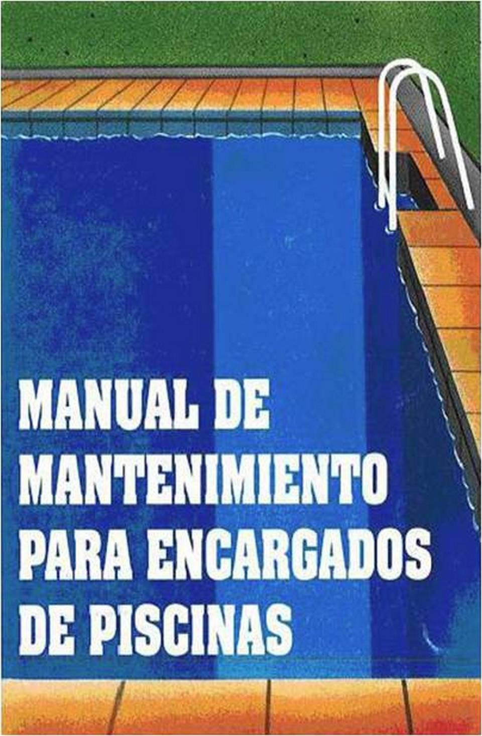 Imagen de la portada del Manual de mantenimiento para encargados de piscinas