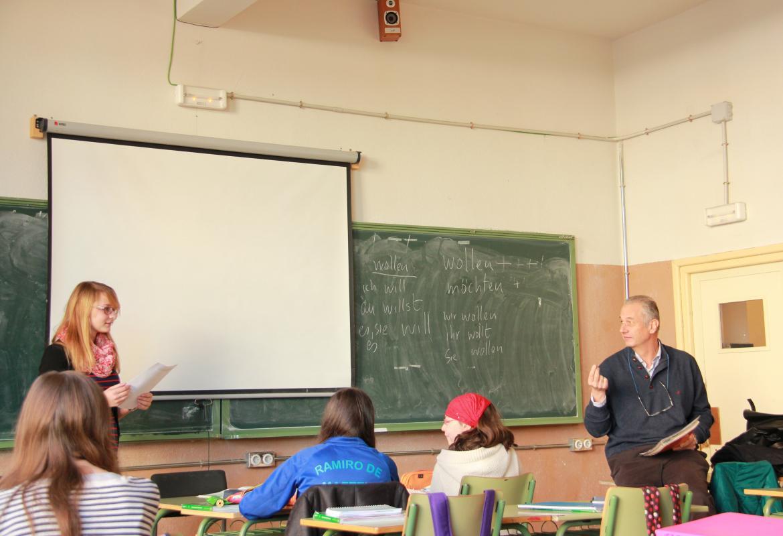Clase en alemán en un Instituto de Educación Secundaria