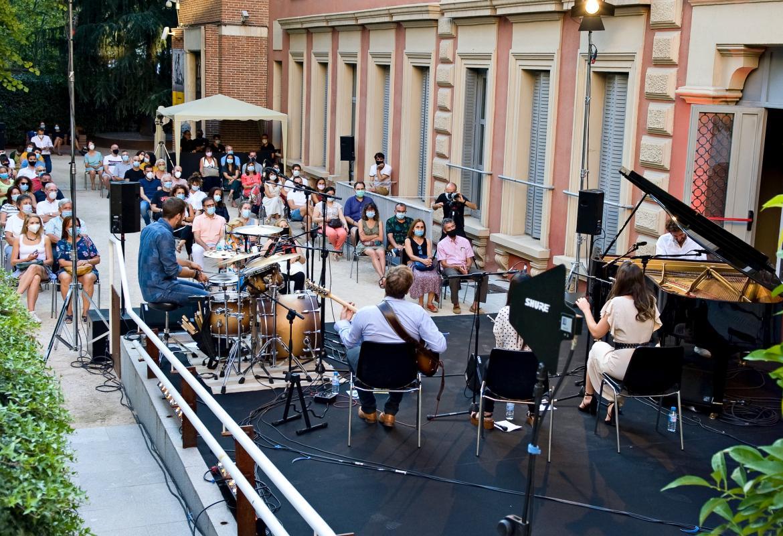 Imagen desde el escenario del concierto en el Palacio Parque Florido