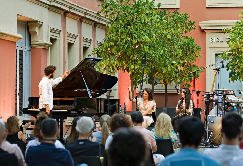 Imagen de uno de los momento durante el concierto en el Palacio Parque Florido