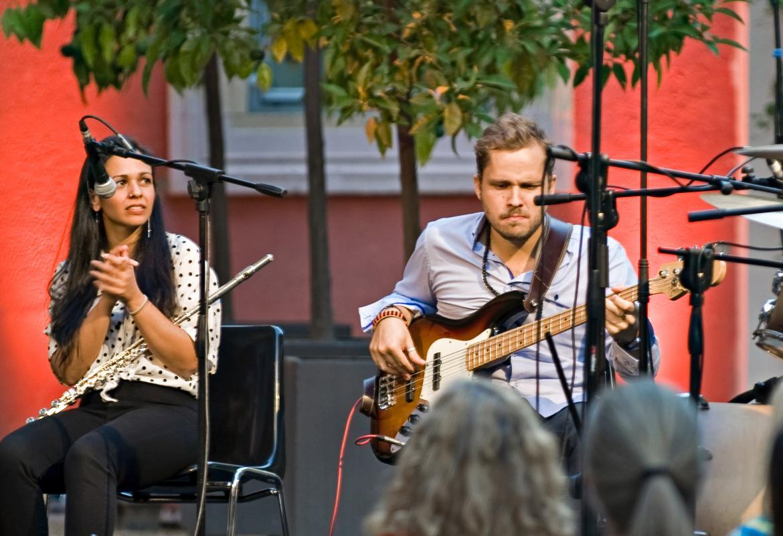 Imagen de Marta Mansilla y Rafael Esteban en el concierto en el Palacio Parque Florido