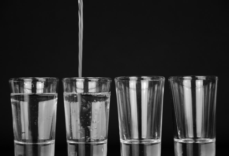 4 vasos de agua