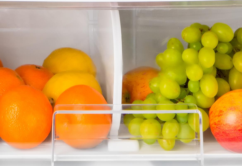 Cajón de frutas y verduras de la nevera