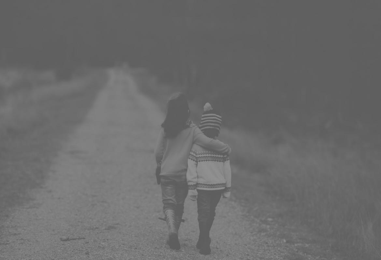 Niños paseando