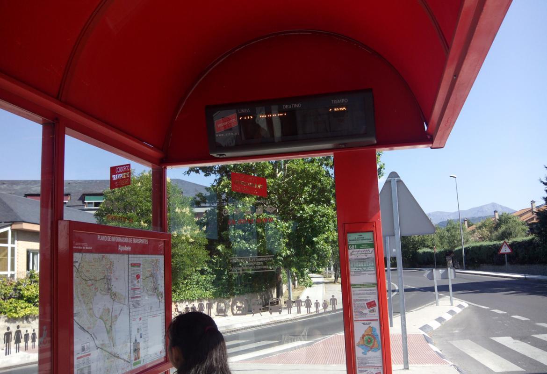 Marquesina de autobús interurbano