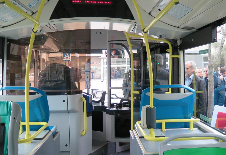Interior de autobús urbano de EMT