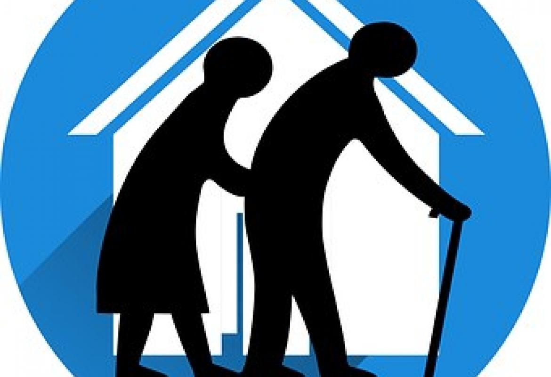 Ancianos en casa dibujo