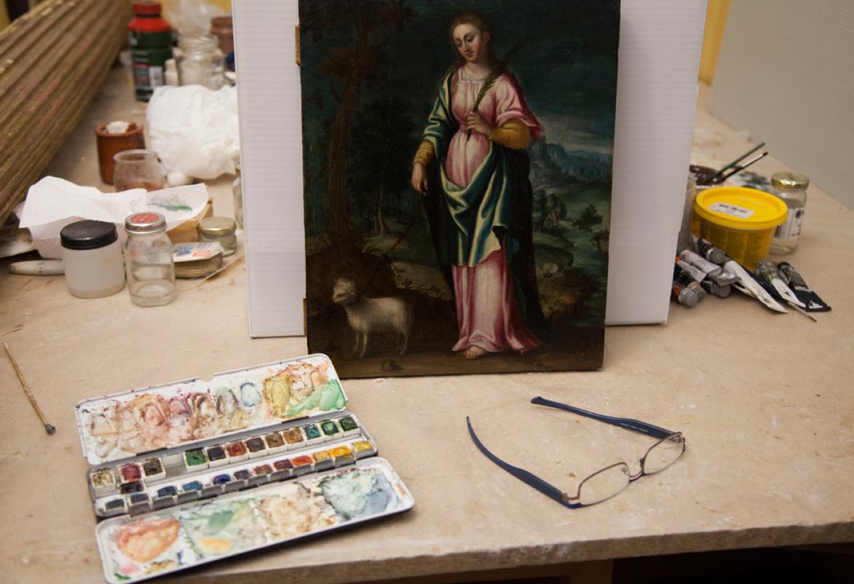Restauración de los retablos de San Jerónimo y Santa Paula de la iglesia del convento de Jerónimas del Corpus Christi