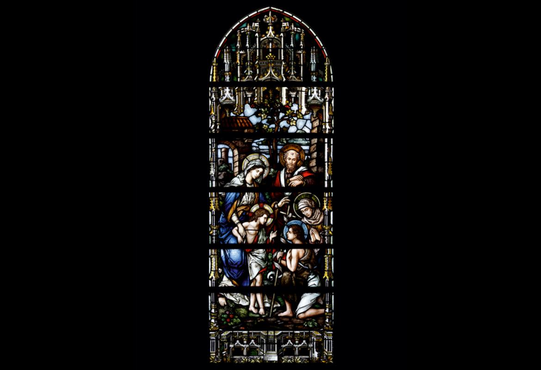 La Sagrada Familia con santa Isabel y san Juan Bautista Niño