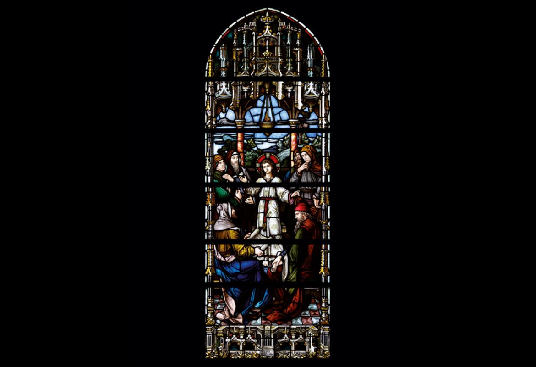 Jesús entre los doctores RESTAURADA