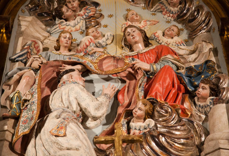 Detalle Imposición de la casulla a San Ildefonso
