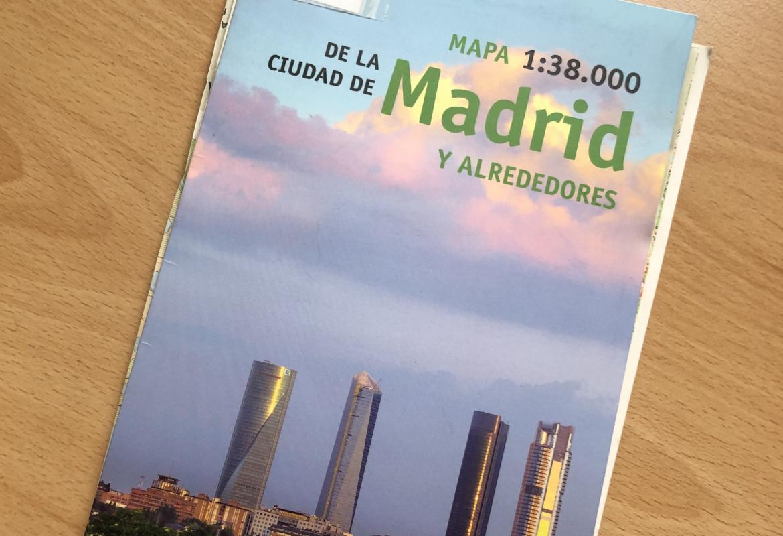 Mapa 1:38000 de la ciudad de Madrid y alrededores