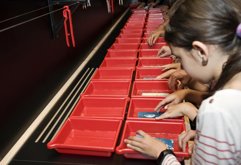 Imagen de participantes en el laboratorio fotográfico