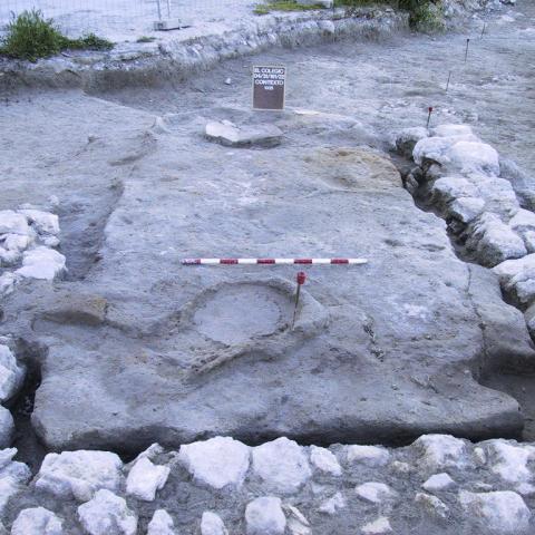 Imagen de estructura de la Segunda Edad del Hierro del Yacimiento El Colegio en Valdemoro