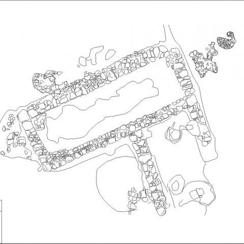 Imagen de dibujo de la planta de la estructura anterior de Yacimiento El Colegio en Valdemoro