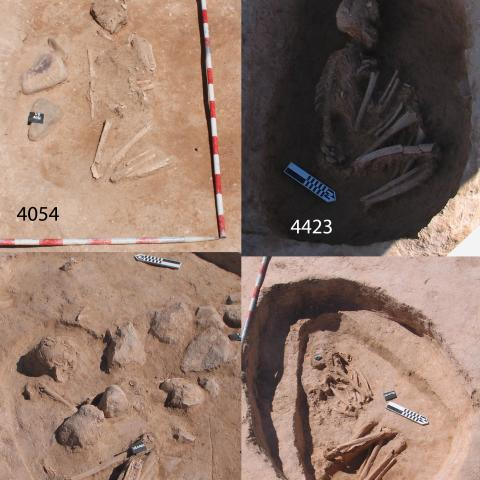 Imagen de inhumaciones Edad del Bronce