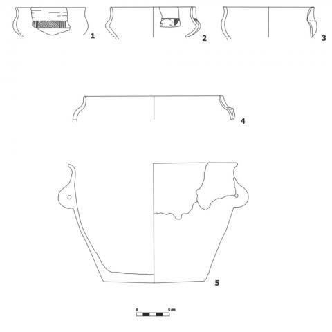 Imagen de materiales cerámicos de la Primera Edad del Hierro del Yacimiento El Colegio en Valdemoro
