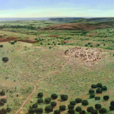 Imagen reconstruccion de la explotacion minera