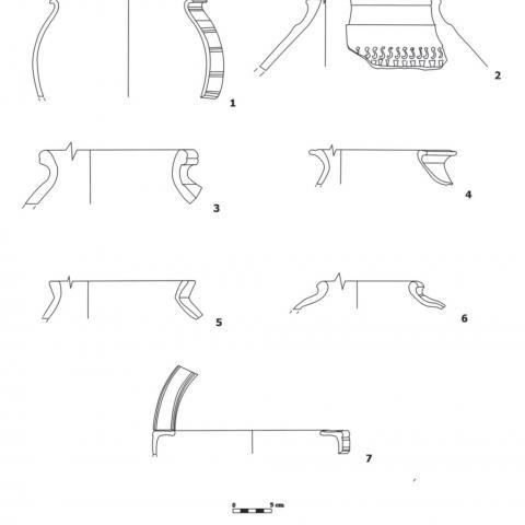 Imagen de materiales cerámicos de la Segunda Edad del Hierro del Yacimiento El Colegio en Valdemoro