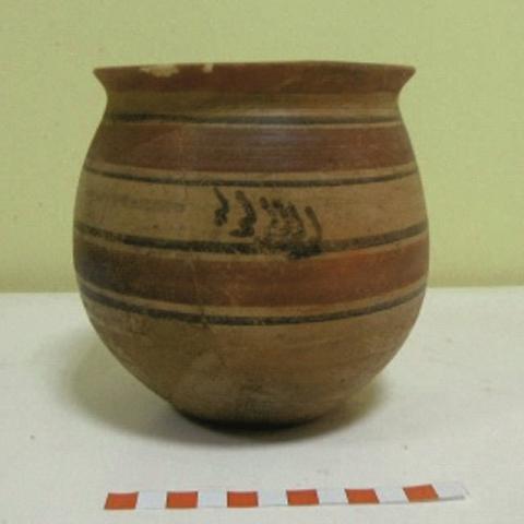 Imagen de cerámica con decoración pintada del yacimiento de la Fuente de la Mora