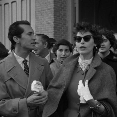 Ava Gardner y Luis Miguel Dominguin. Fotografía: Martín Santos Yubero. Archivo Regional de la Comunidad de Madrid