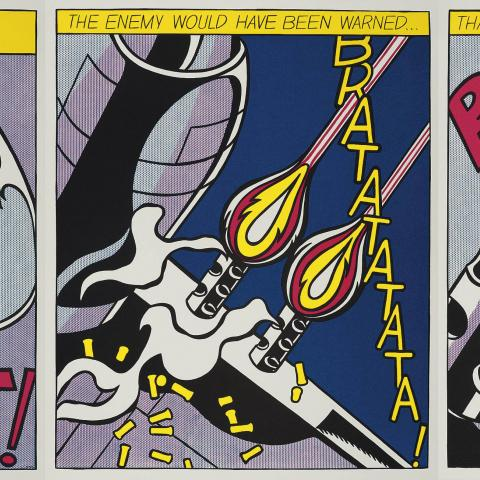 Roy Lichtenstein, As I opened fire, Suite de 3 litografía