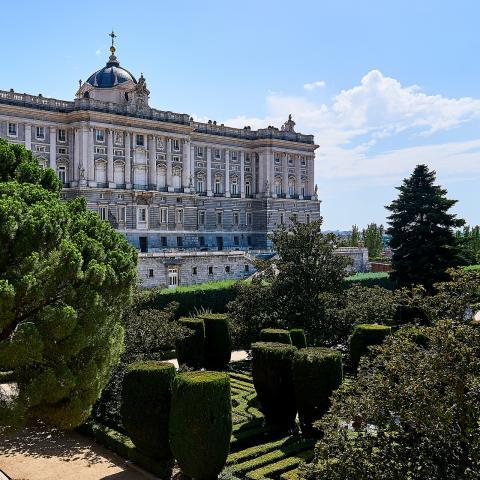 Palacio Real y jardines de Sabatini
