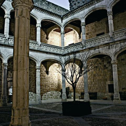 Patio de armas castillo de Manzanares el Real