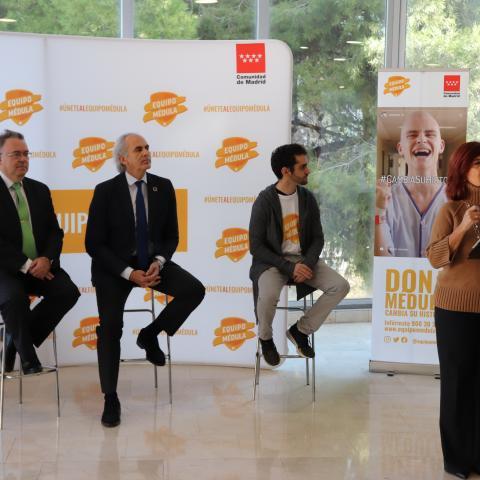 La directora del Centro de Transfusión interviene en la presentación de la Campaña Cambia su historia