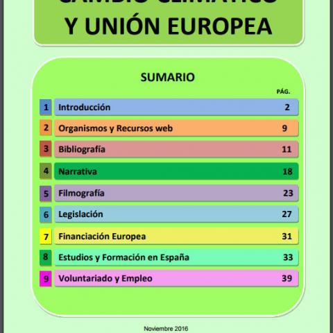 Ref. 19396 Cambio climático y Unión Europea: guía de recursos