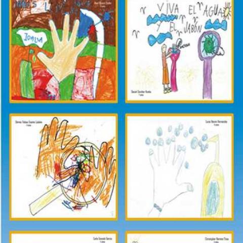 Dibujos finalistas concurso higiene de manos