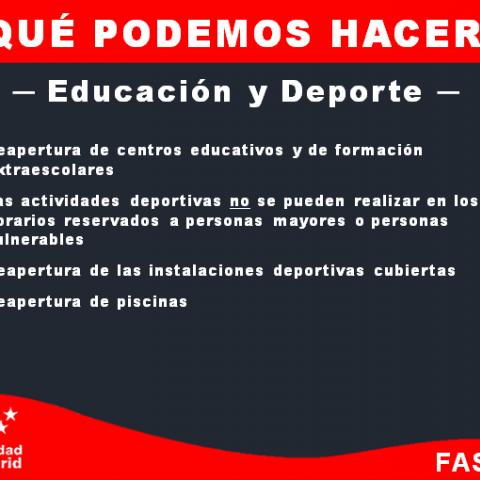 Que podemos hacer - Educación y deporte