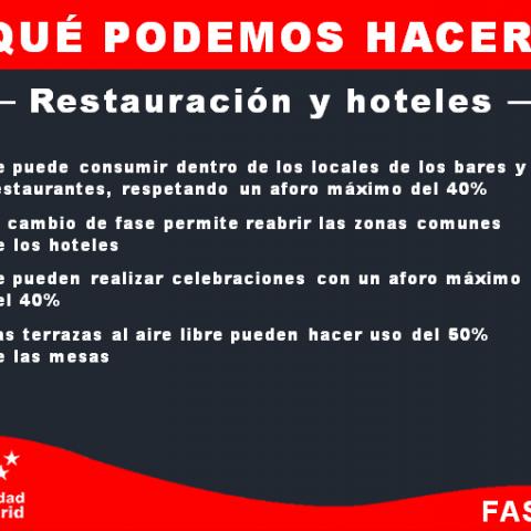 Que podemos hacer - Restauración y hoteles