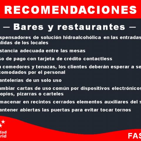 Recomendaciones bares y restaurantes